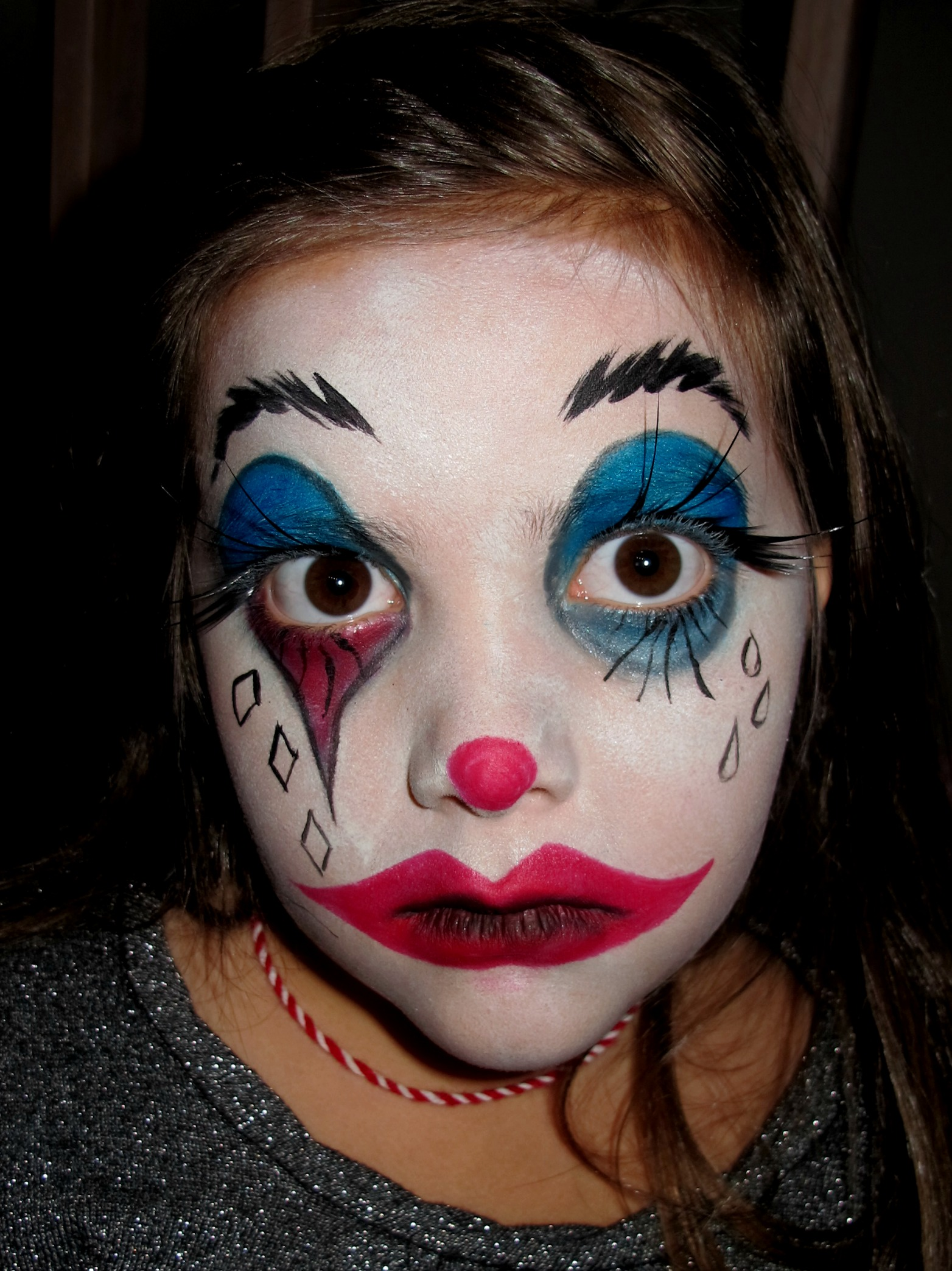 Halloween Sminkningar Clown.Halloween Twocolours