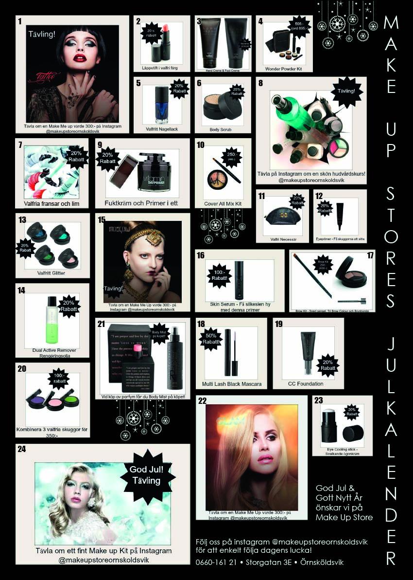 make up store julkalender