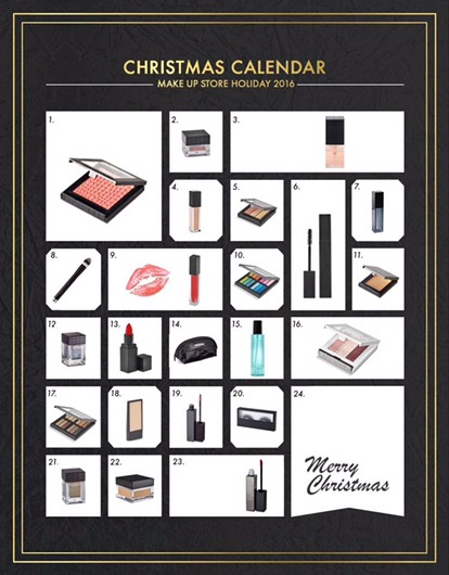 make up store julkalender